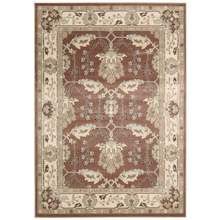 Rug Squared Springfield Brick Oriental Area Rug (5'3 x 7'4)