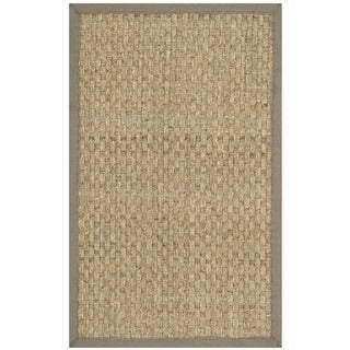 Safavieh Natural Fiber Natural/ Grey Seagrass Rug (2'6 x 4')