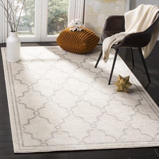 Safavieh Indoor/ Outdoor Amherst Ivory/ Light Grey Rug (7' Square)