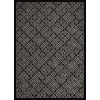 Rug Squared Montrose Silver/ Black Geometric Area Rug (7'9 x 10'10)
