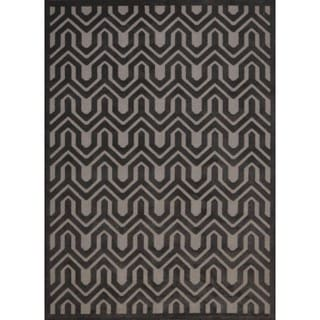 Rug Squared Montrose Silver Grey Geometric Area Rug (7'9 x 10'10)