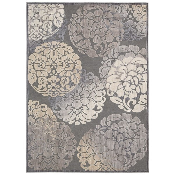 Rug Squared Princeton Grey Abstract Area Rug (7'9 x 9'9)