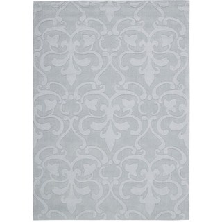 Rug Squared Santa Fe Light Blue Floral Area Rug (7'9 x 9'9)