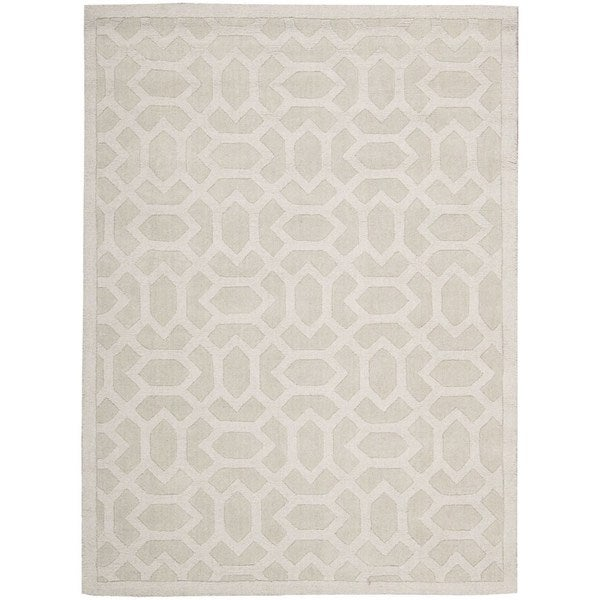 Rug Squared Santa Fe Sand Graphic Area Rug (5'3 x 7'4)