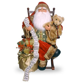 31-inch Santa on Rocking Chair