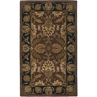 Safavieh Handmade Classic Rust/ Black Wool Rug (2' x 3')