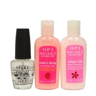 OPI Start to Finish with Avojuice 3-piece Skin Quencher Set
