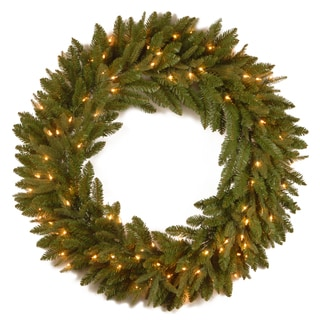 24-inch Liberty Pine Wreath with Clear Lights