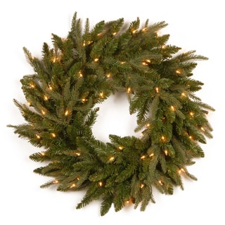 National Tree Company 24-inch Frasier Grande Wreath with Clear Lights