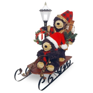 26-inch Sleigh with Bears and Lantern