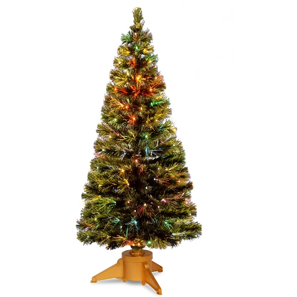 72-inch Fiber Optic Radiance Fireworks Tree with Top Star with Gold Base