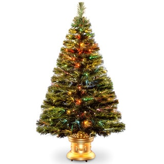 48-inch Fiber Optic Radiance Fireworks Tree with Top Star Gold Base