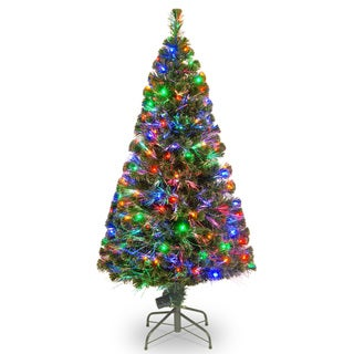 60-inch Fiber Optic Evergreen Tree with 150 Multi Lights in a 16-inch Stand