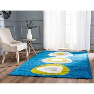 Safavieh Art Shag Blue/ Multi Rug (9' x 12')