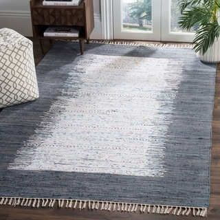 Safavieh Hand-woven Montauk Ivory/ Grey Cotton Rug (9' x 12')