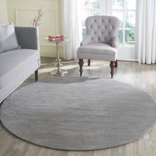 Safavieh Handmade Himalaya Grey Wool Rug (4' Round)