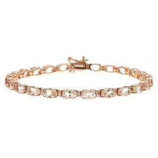 Anika and August 14k Rose Gold Morganite 5/9ct TDW Diamond Bracelet (G-H, I1-I2)