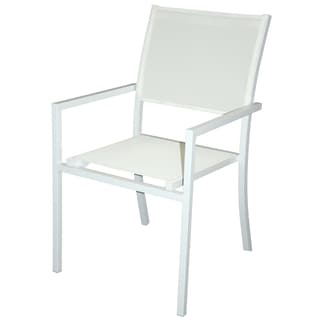 Aluminum Coated Sling Stacking Dining Chair