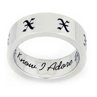Always Know I Adore You Love Stainless Steel Ring