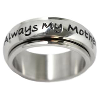 Always My Mother Stainless Steel Spinner Ring