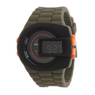Diesel Men's DZ7299 Viewfinder Digital Green Silicone Watch