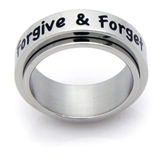 Forgive and Forget Stainless Spinner Ring
