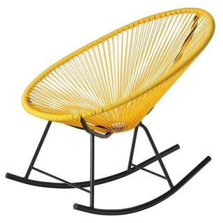 Design Tree Home Acapulco Yellow Rocking Chair (China)