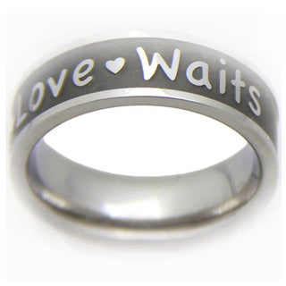 True Love Waits Stainless Steel Promise Ring