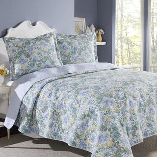 Laura Ashley Chelsea Cotton 3-piece Quilt Set