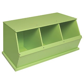 Badger Basket Three Bin Storage Cubby - Sage