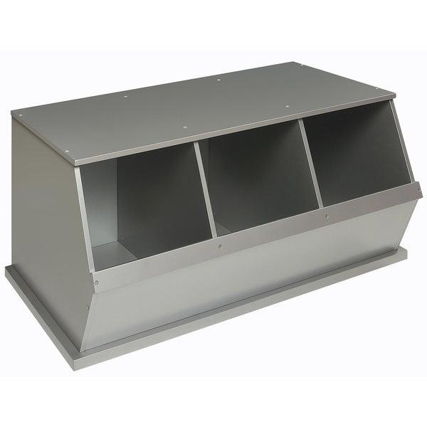 bin storage cubby silvertone 2 reviews see all badger basket storage ...