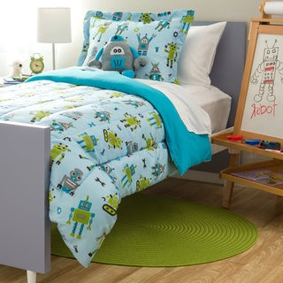 Kids Collection Robot 4-piece Comforter Set