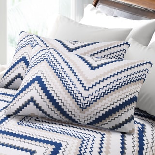 200-GSM Hemstitched Chevron Deep Pocket Flannel Sheet Set or Pillowcase Separates