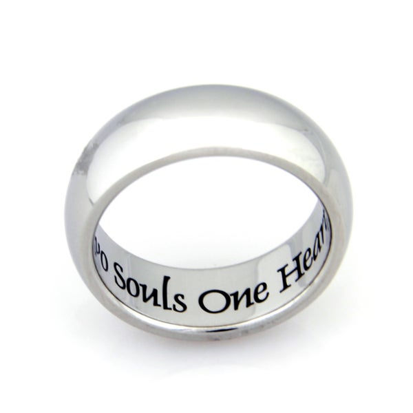 Stainless Steel Two Souls One Heart Ring