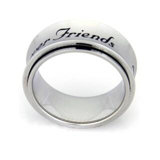 Forever Friends Spinner Stainless Steel Ring