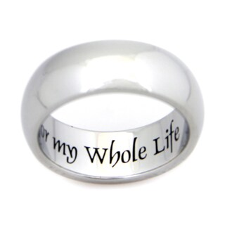 Stainless Steel My Whole Heart For My Whole Life Ring