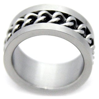 Men's Stainless Steel Curb Chain Ring