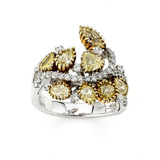 Diamonds for a Cure 14k Two-tone Gold 2 1/3ct TDW Yellow Diamond Ring (G-H, SI1-SI2)