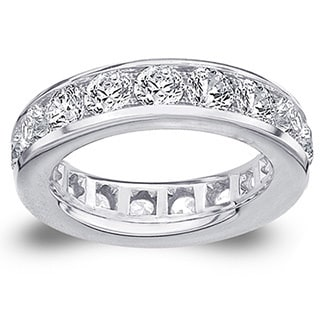 Amore Platinum 5ct TDW Channel-set Diamond Wedding Band (G-H, SI1-SI2)