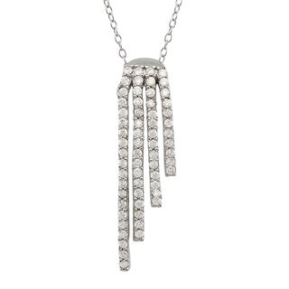 Gioelli Sterling Silver Cubic Zirconial Necklace