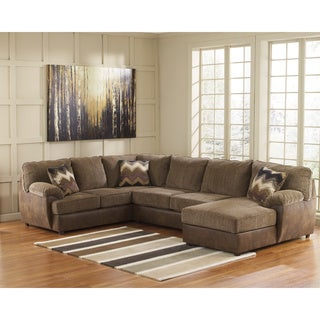 Signature Design by Ashley Cladio 3-piece Corner Chaise, Armless Loveseat and Sofa Sectional