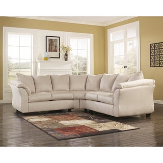 Signature Design by Ashley Darcy 2-piece Stone Loveseat Sectional