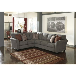 Signature Design by Ashley Doralin 3-piece Steel Left Arm Facing Sofa w/Corner Wedge