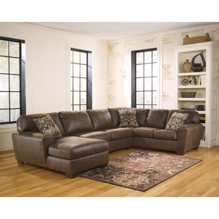 Signature Design by Ashley Foxworth 3-piece Armless Loveseat, Corner Chaise and Sofa Sectional