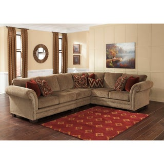 Signature Design by Ashley Grecian 3-piece Amber Loveseat, Sofa and Armless Chair Sectional