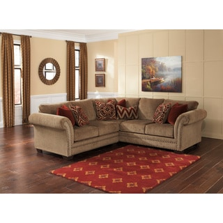 Signature Design by Ashley Grecian Amber Loveseat and Sofa Sectional