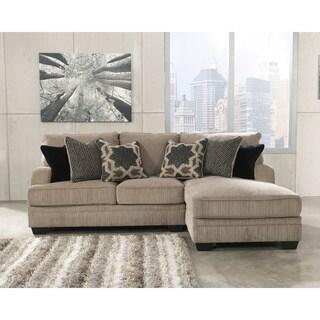 Signature Design by Ashley Katisha Platinum Corner Chaise and Loveseat