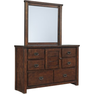 Signature Design by Ashley Ladiville Rustic Brown 2-piece Youth Dresser and Mirror