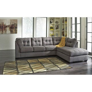 Signature Design by Ashley Maier Charcoal Corner Chaise and Sofa Sectional