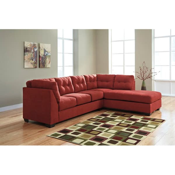 orland brown leather modern sectional sofa set with left facing chaise